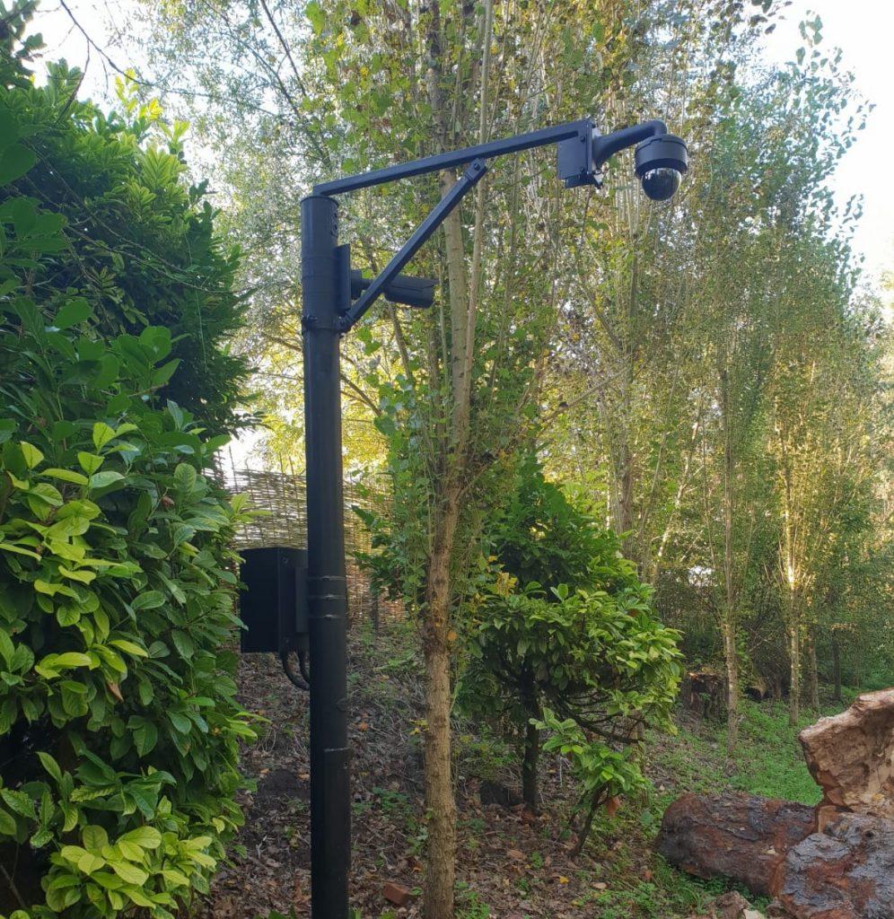 Pole mounted CCTV camera
