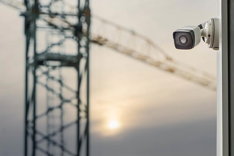 CCTV at a construction site