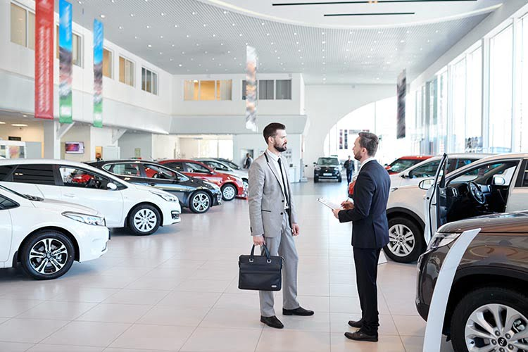 an image of a car showroom for a car cctv blog