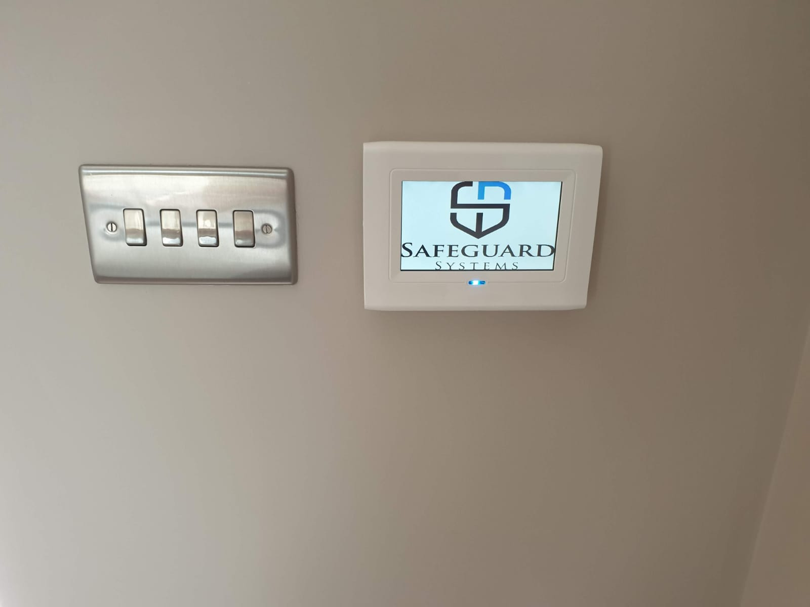 Alarm Control panel for a security system installation