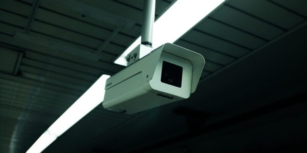 CCTV camera on a construction site