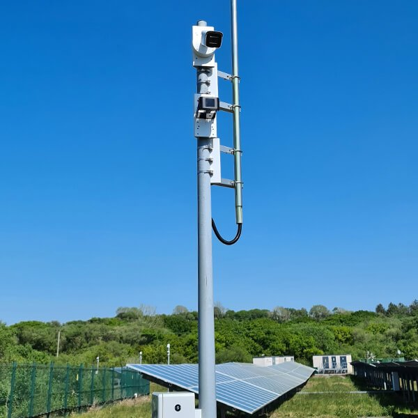 Solar farm perimter security and protections system