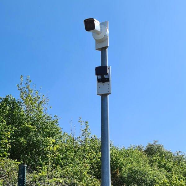 Solar site security cameras