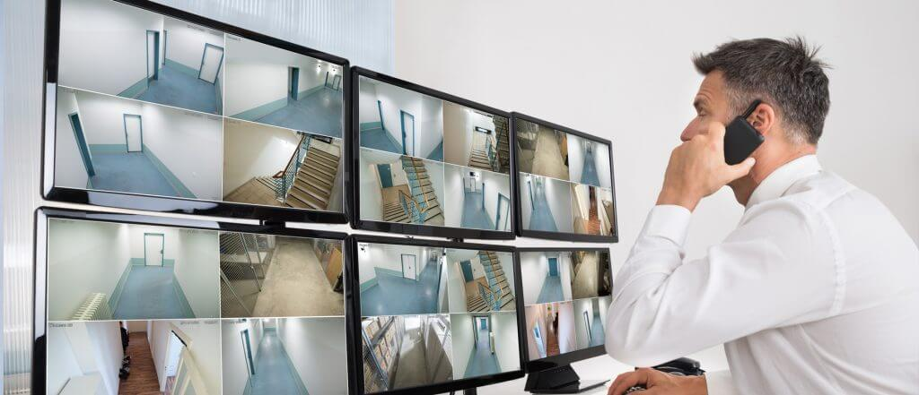 CCTV monitoring for a business