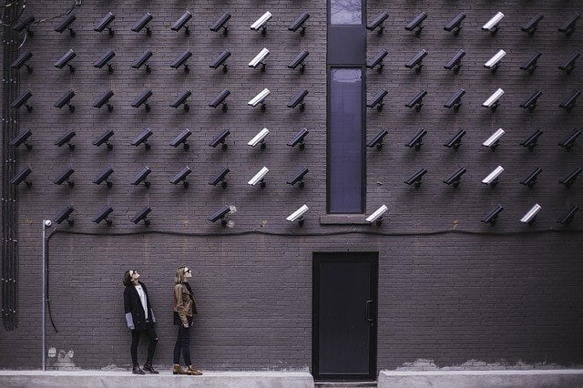 security camera system for a business