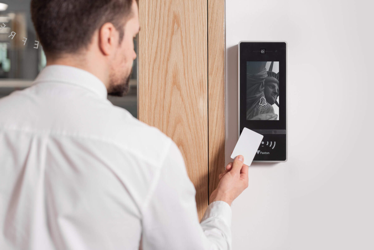 Door Entry System in Use