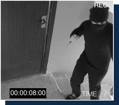 CCTV footage at an apartment