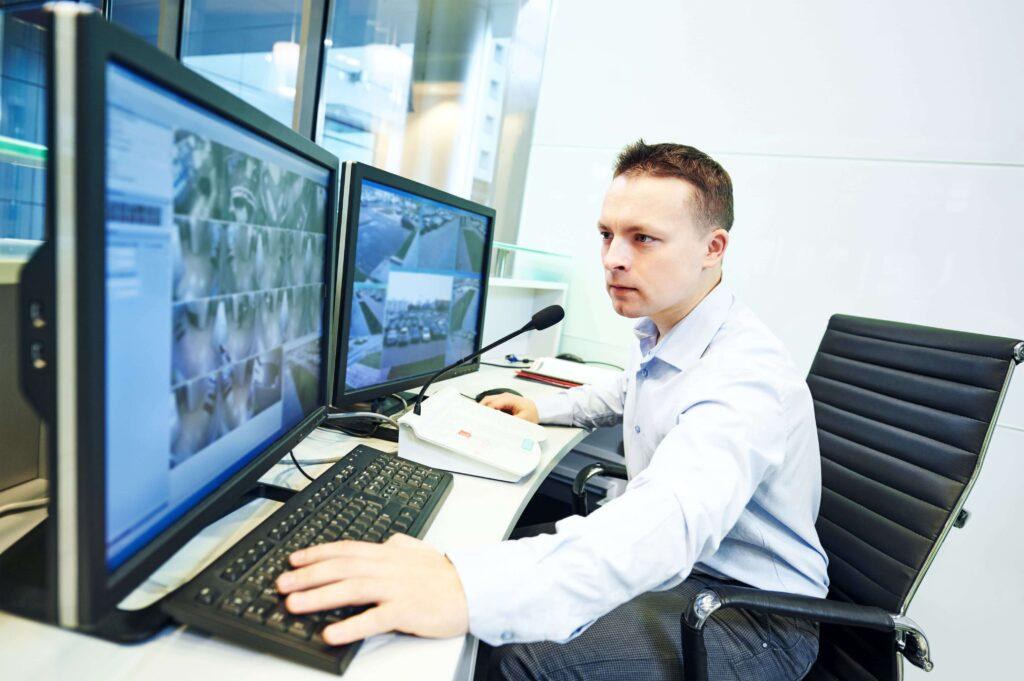 CCTV being monitored at an ARC monitoring station