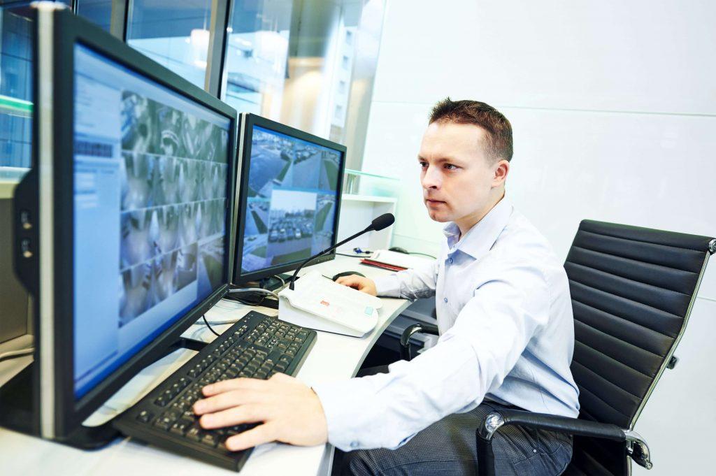 CCTV monitoring at a warehouse