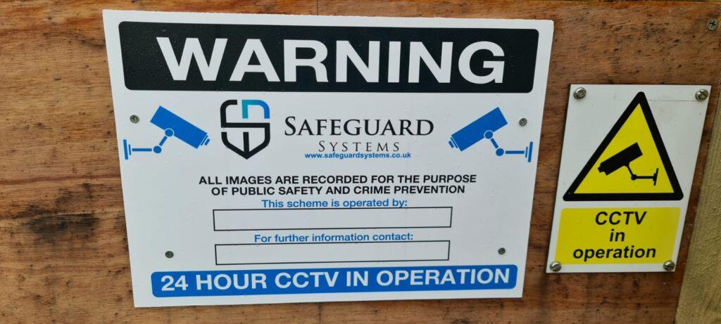 CCTV signage deters criminals